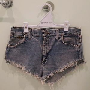 Wrangler High Waisted V Cut Jean Shorts